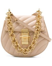 Chloé - Drew Mini Leather And Suede Shoulder Bag - Lyst