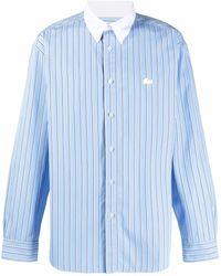 Lacoste L!ive Striped Logo Shirt - Blue
