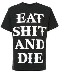 Sankuanz T-shirt Eat Shit and Die - Noir