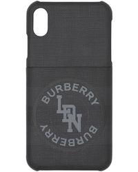 Burberry Logo London Check Iphone X/xs Case - Grey