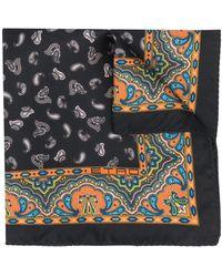 Etro ペイズリー スカーフ - ブラック