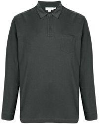 Sunspel - Longsleeved Polo Shirt - Lyst