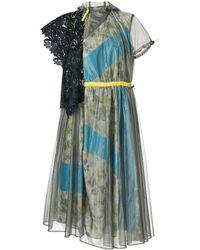 Kolor フローラル ドレス - ブルー
