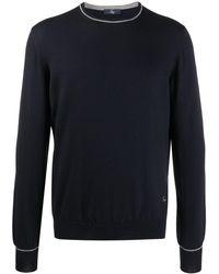 Fay ラウンドネック セーター - ブルー