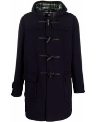 Gloverall Hooded Duffle Coat - Blue