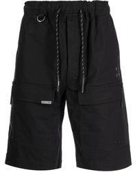 Izzue Drawstring-waist Cargo Shorts - Black