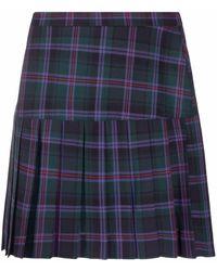 Vivienne Westwood Summer チェック プリーツスカート - グリーン