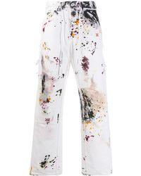 Off-White c/o Virgil Abloh Ink Splash Print Slim-fit Jeans - White