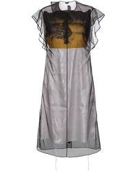 CALVIN KLEIN 205W39NYC Сатиновое Платье С Тюлем 'x Andy Warhol Foundation' - Черный