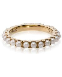 Rosa De La Cruz - 18k Yellow Gold Pearl Ring - Lyst
