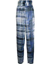SemSem Pantalon ample à effet métallisé - Bleu
