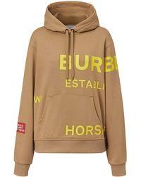 Burberry Худи Horseferry С Логотипом - Коричневый