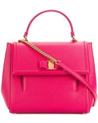 Ferragamo - Carrie Top Handle Bag - Lyst