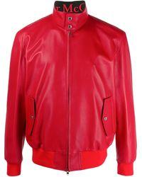 Alexander McQueen Куртка На Молнии - Красный