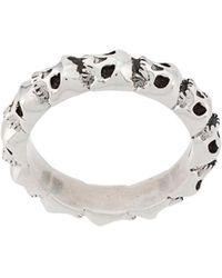 Northskull Ring Met Schedel - Metallic