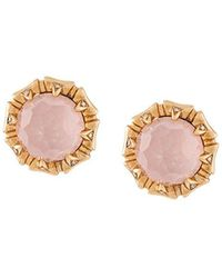 Stephen Webster - 18kt Rose Gold, Opal And Diamond Stud Earrings - Lyst