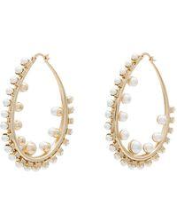 Anton Heunis - Gold Plated Pearl Hoop Earrings - Lyst