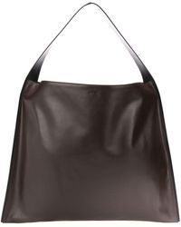 Jil Sander Oversized Hobo Bag - Brown