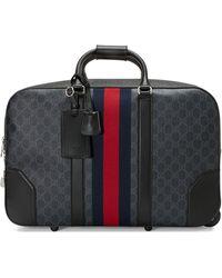 Gucci Maleta de viaje con motivo GG Supreme - Negro