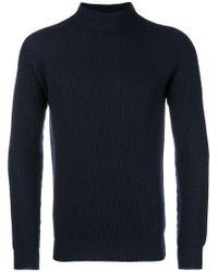 Aspesi - Ribbed Slim-fit Sweater - Lyst