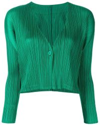 Pleats Please Issey Miyake - Cropped Ribbed Jacket - Lyst