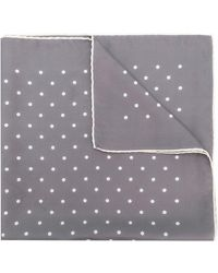 Holland & Holland Polka Dot Scarf - Gray