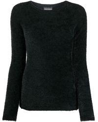 Emporio Armani クルーネック セーター - ブラック