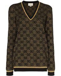 Gucci - GGパターン ラメ セーター - Lyst