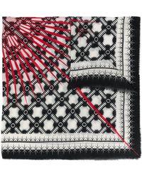 Haider Ackermann パターン スカーフ - ブラック
