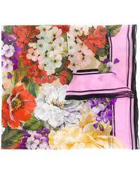 Dolce & Gabbana Floral-print silk scarf - Multicolor