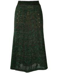 Cecilia Prado Knitted Marie Midi Skirt - Green