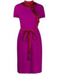 Dior Платье С Поясом 2000-х Годов - Розовый