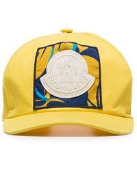 Moncler - Gorra de béisbol con parche del logo bordado - Lyst