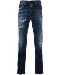 DIESEL Slim faded jeans - Blu