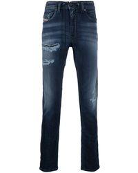 DIESEL Jeans Met Vervaagd-effect - Blauw