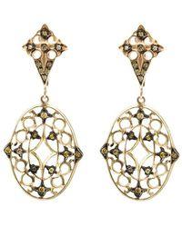 Loree Rodkin - Lace Diamond Drop Earrings - Lyst