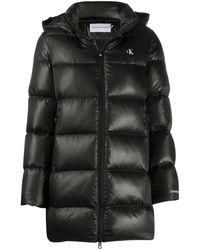 Calvin Klein キルティング パデッドジャケット - ブラック