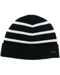 AMI Breton Stripes Beanie - Black