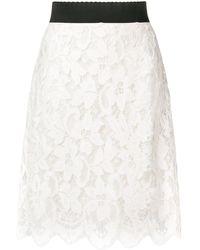Dolce & Gabbana レース スカート - ホワイト
