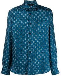 Amiri ペイズリー シルクシャツ - ブルー