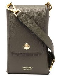 Tom Ford Logo Embossed Pouch - Green