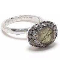 Rosa Maria Round Stone Diamond Ring - Metallic
