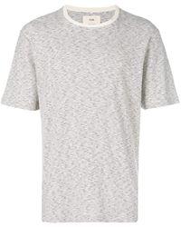 Folk ボーダー Tシャツ - グレー