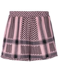 Cecilie Copenhagen - Tapestry Pattern Shorts - Lyst