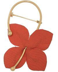 Marni Flora Flower Brooch - Pink