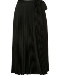 TOME 'pleated Wrap' Skirt - Blue