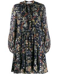 Chloé Платье С Цветочным Принтом - Синий
