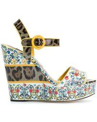 Dolce & Gabbana - Majolica Print Wedges - Lyst