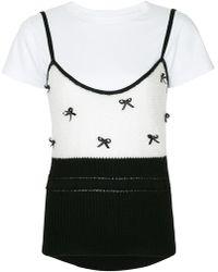 Tu Es Mon Tresor - Ribbon-detail Camisole T-shirt - Lyst