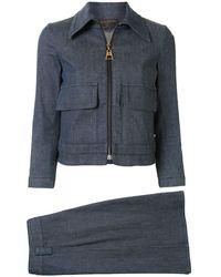 Louis Vuitton Set aus Rock und Jacke - Blau